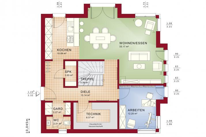 EVOLUTION 161 V3 - Grundriss Erdgeschoss