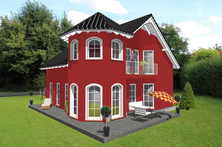 Einfamilienhaus mit romantischem Türmchen - www.jk-traumhaus.de -