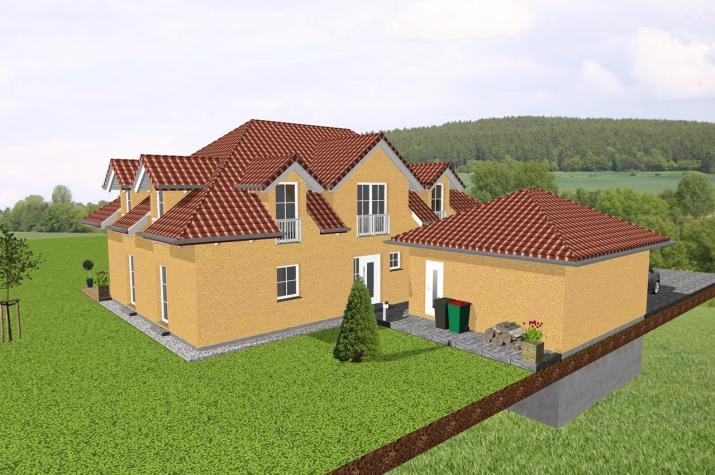 Exklusives Einfamilienhaus mit imposanter Dachgestaltung - www.jk-traumhaus.de -