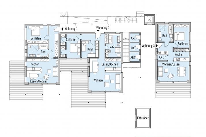 Falchengraben - Erdgeschoss