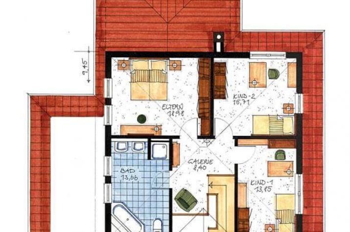 Haus Binz - Obergeschoss Grundriss