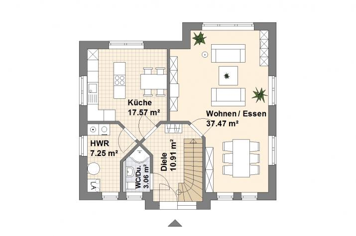 Haus Papenburg - Grundriss Erdgeschoss