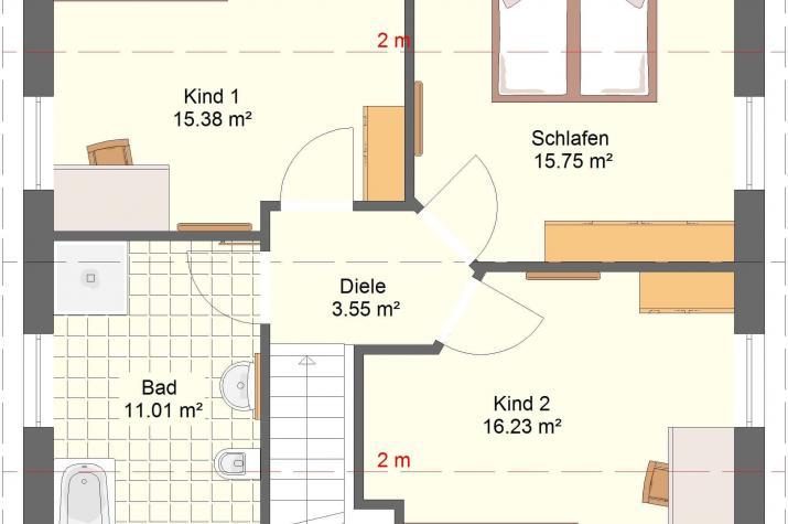 Klassik 11.11 - Grundriss Obergeschoss