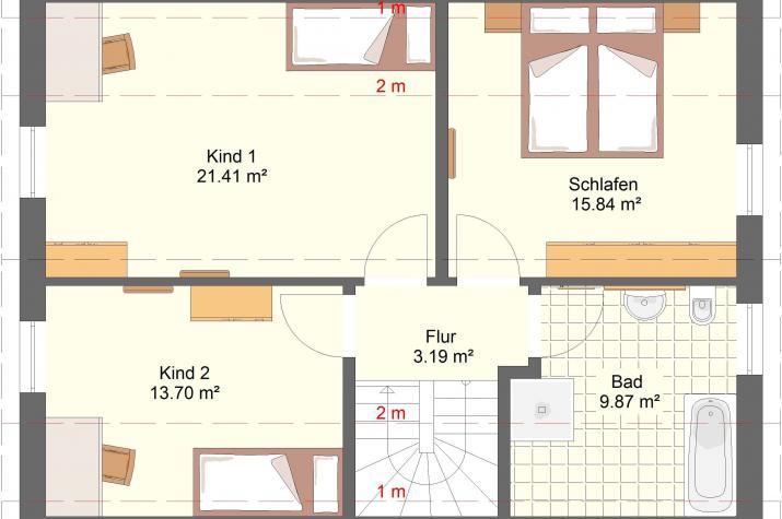 Klassik 11.14 - Grundriss Obergeschoss