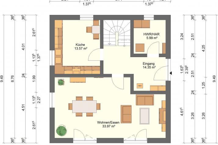 Klassik 11.18 - Skizze Erdgeschoss