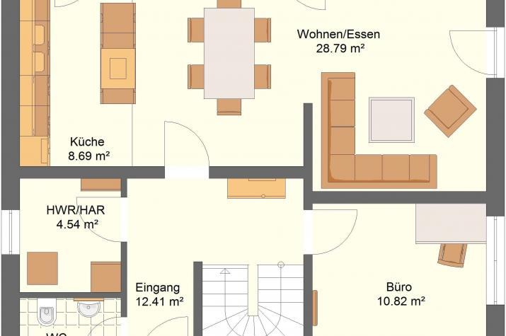 Klassik 11.41 - Skizze Erdgeschoss