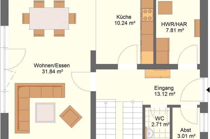 Klassik 11.42 - Skizze Erdgeschoss