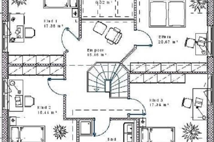 Klassik 15.23 - Skizze Dachgeschoss