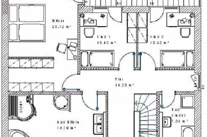 Klassik 15.25 - Skizze Dachgeschoss