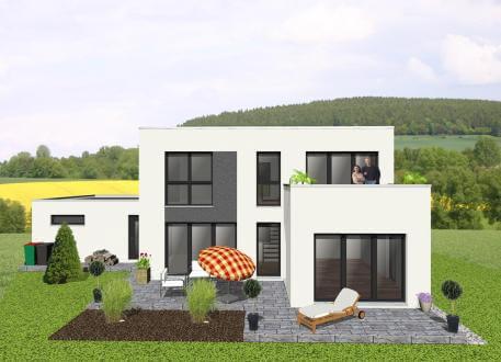 Kompaktes Bauhaus mit Dachterrasse - www.jk-traumhaus.de