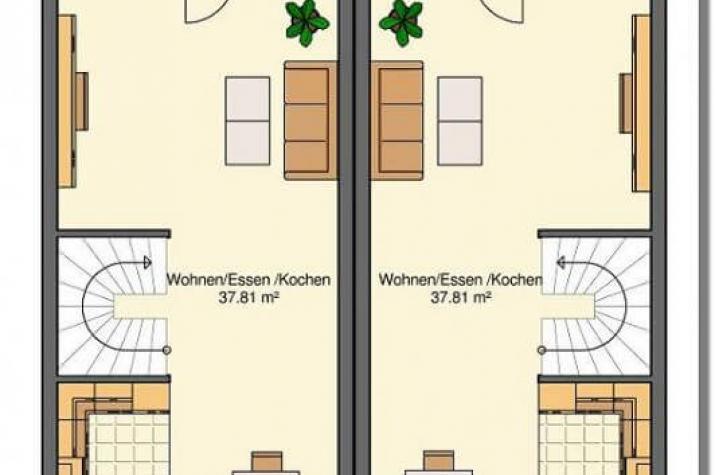 Kowalski Haus - Stadt-RH mit Einliegerwohnung und Büroetage - grundriss eg