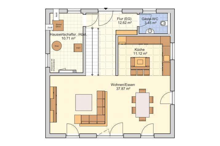 Medio - Die Stadtvilla für kleine Grundstücke - Erdgeschoss