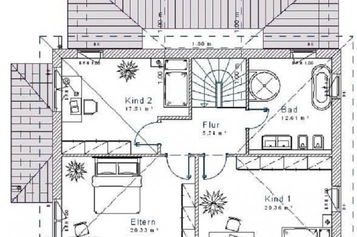 Mediterran 16.12 - Skizze Dachgeschoss