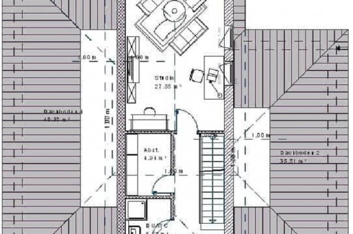 Mediterran 16.14 - Skizze Obergeschoss