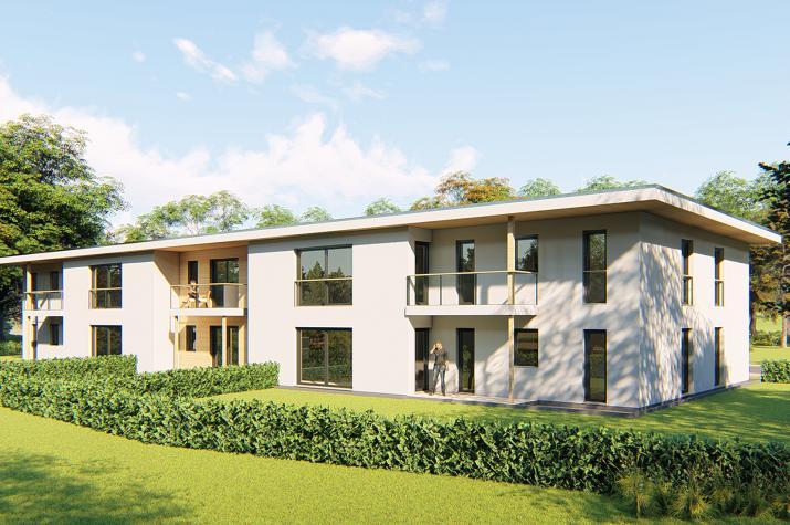 Mehrfamilienhaus Bruchköbel- 10 WE-  - MFH Ansicht Gartenseite