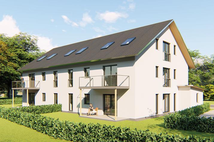 Mehrfamilienhaus Egelsbach - Gartenansicht