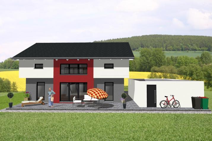 Modernes Einfamilienhaus mit interessanter Architektur-www.jk-traumhaus.de -