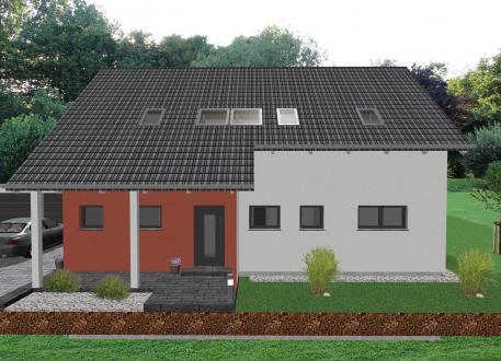 Haus mit Einliegerwohnung Modernes Zweifamilienhaus mit Bürotrakt - www.jk-traumhaus.de