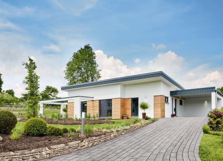 bis 350.000 € Nivelo - Wohnvielfalt auf einer Etage im modernen Bungalow