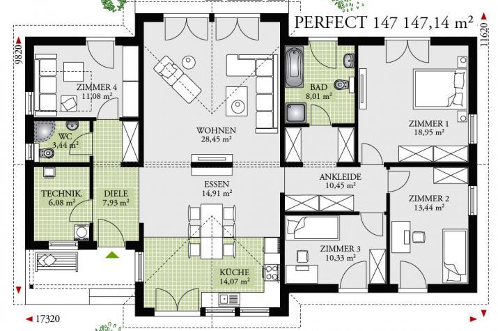 PERFECT147 - Effizienz55 pur - Erdwärme - 5 Zimmer