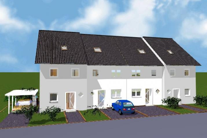 Reihenhaus Maintal  mit 4 WE - Ansicht des Reihenhauses Maintal