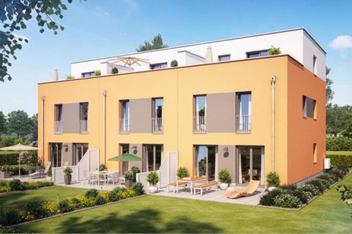 Reihenmittelhaus F452 in NRW und Hessen - Außenansicht