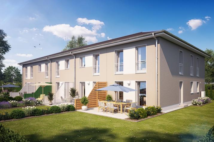 Reihenmittelhaus S280 in NRW und Hessen - Außenansicht