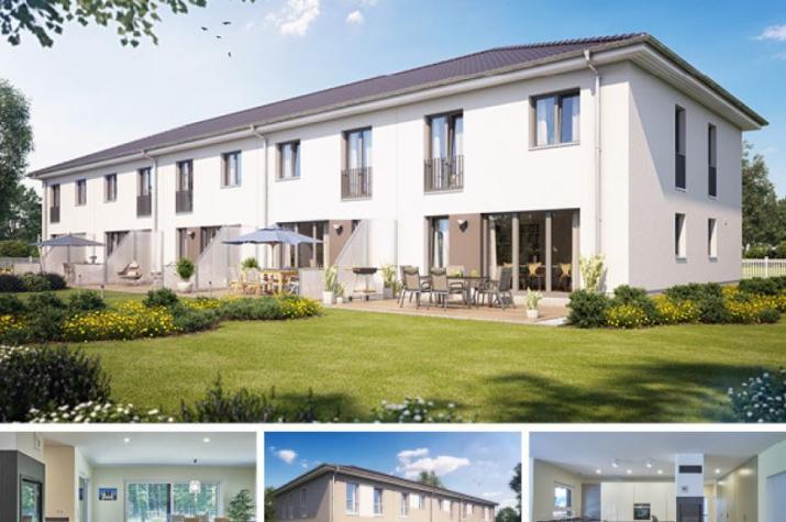 Reihenmittelhaus S550 in NRW und Hessen - Außenansicht