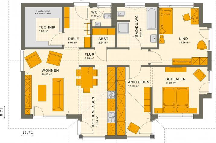 SOLUTION 101 V2 - Grundriss Erdgeschoss