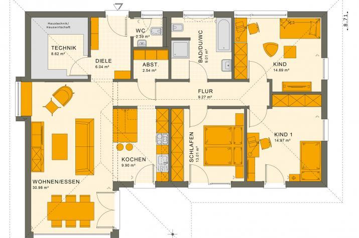 SOLUTION 110 V3 - Grundriss Erdgeschoss