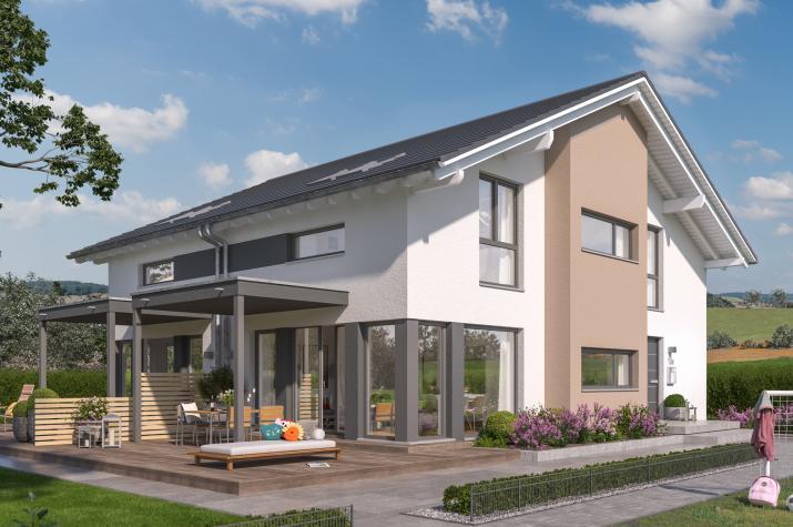 SOLUTION 117 L V3 - Traumdoppelhaus mit schmalem Grundriss, optimiert für urbane Wohngebiete