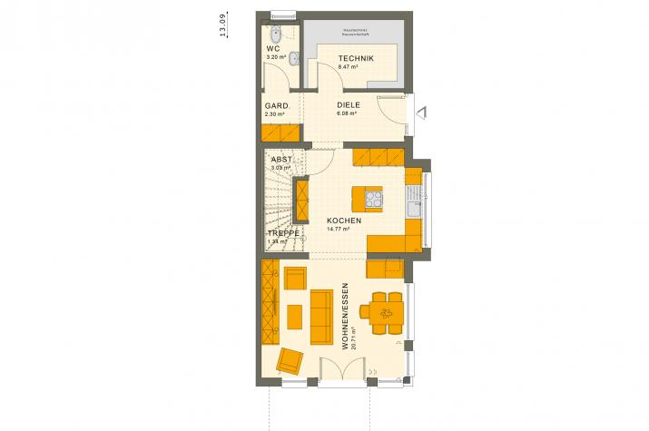 SOLUTION 117 L V3 - Grundriss Erdgeschoss