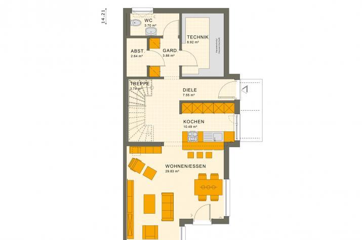 SOLUTION 125 L V2 - Grundriss Erdgeschoss