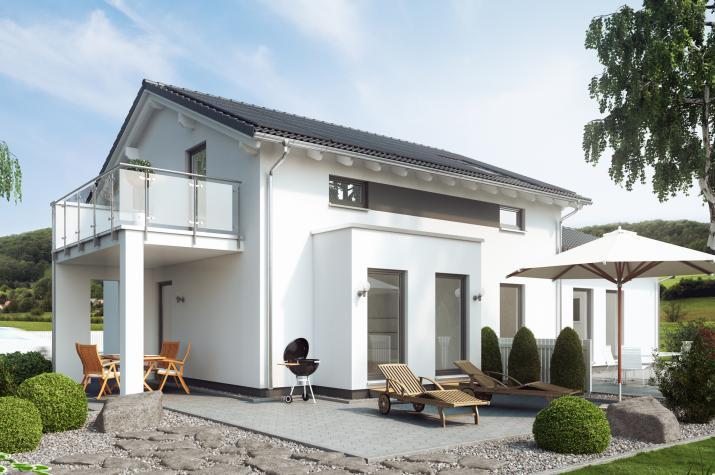 SOLUTION 183 V4 - Vielseitiges Mehrgenerationenhaus mit Erker, Balkon und überdachtem Freisitz