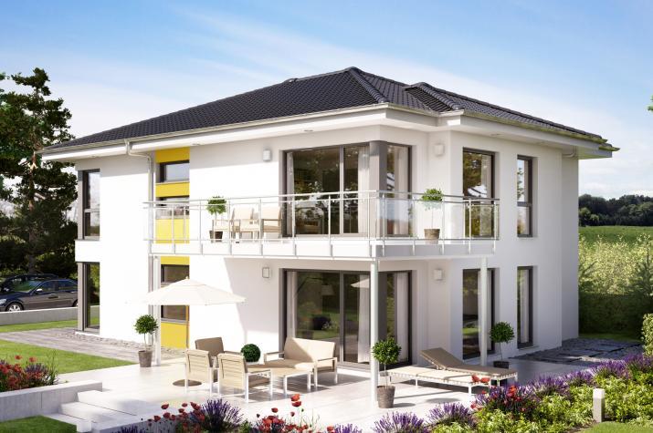 SOLUTION 204 V6 - Elegantes Zweifamilienhaus mit Übereckbalkon