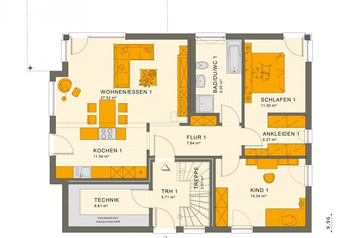 SOLUTION 204 V6 - Grundriss Erdgeschoss