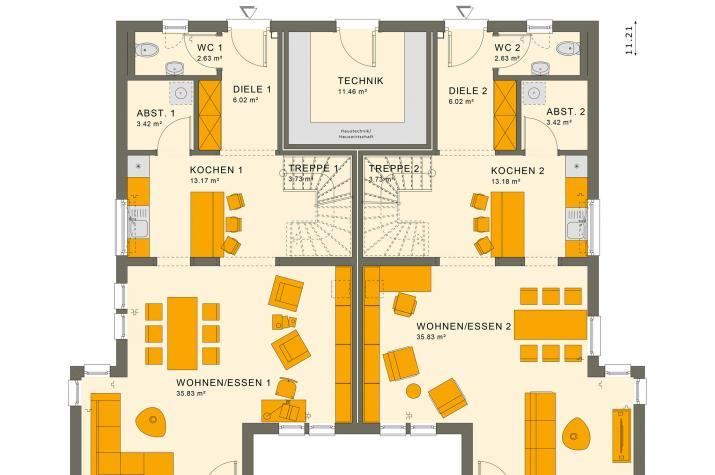 SOLUTION 242 V6 - Grundriss Erdgeschoss