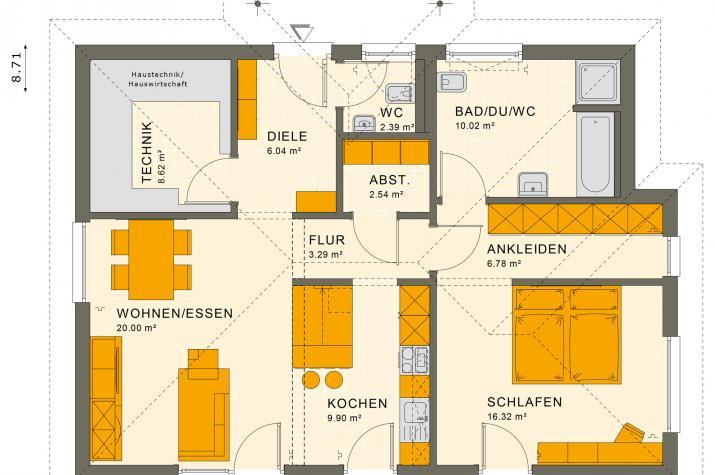 SOLUTION 82 V3 - Grundriss Erdgeschoss