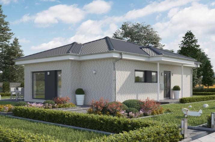 SOLUTION 82 V3 - Klassischer Walmdach-Bungalow für komfortables Wohnen ohne Treppen