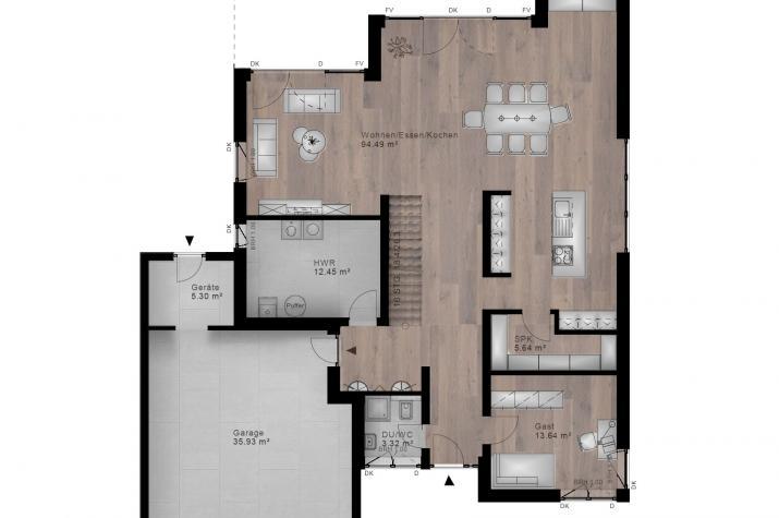 STADTVILLA LAUTZERT 40-031 - Grundriss Erdgeschoss