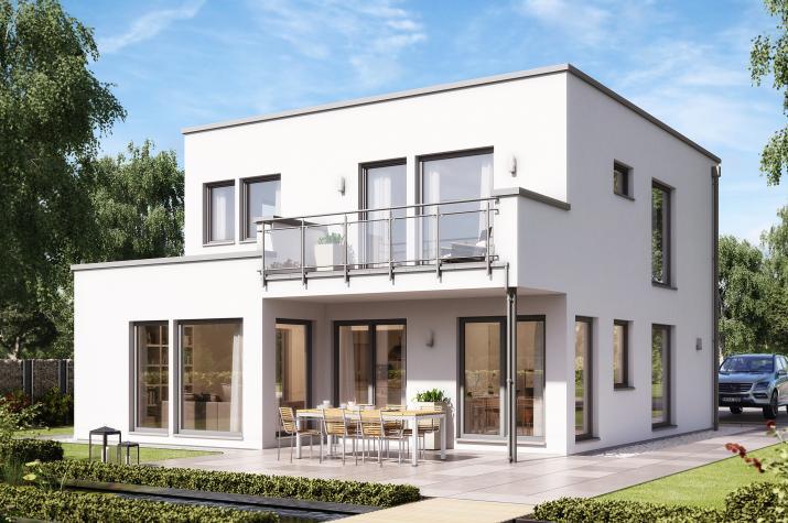 SUNSHINE 136 V8 - Modernes Traumhaus mit Übereckerker und Balkon