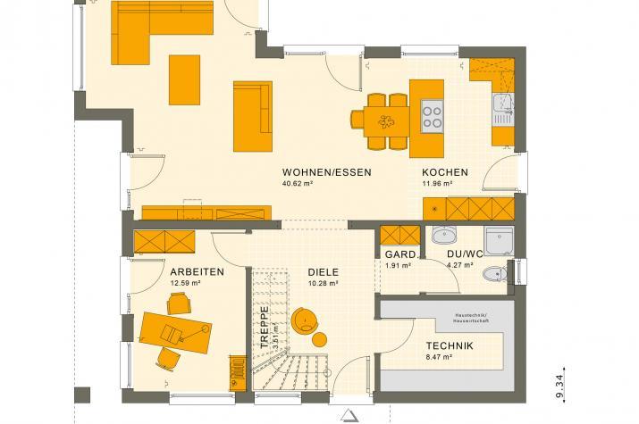 SUNSHINE 165 V4 - Grundriss Erdgeschoss