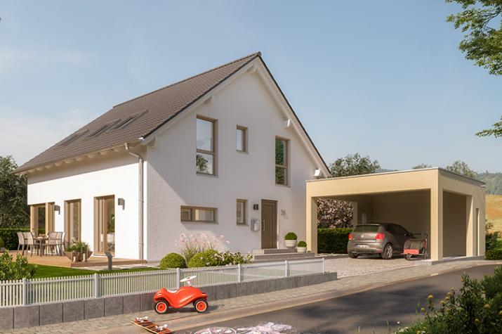 """SUNSHINE 167 V3 - Heimeliges Einfamilienhaus mit Carport """"Modern Art"""""""