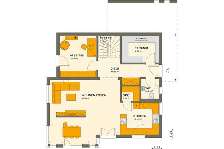 SUNSHINE 167 V5 - Grundriss Erdgeschoss