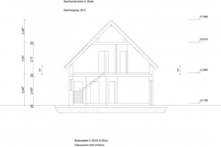Satteldachhaus Klassik 11.15 - Grundriss Außenansicht