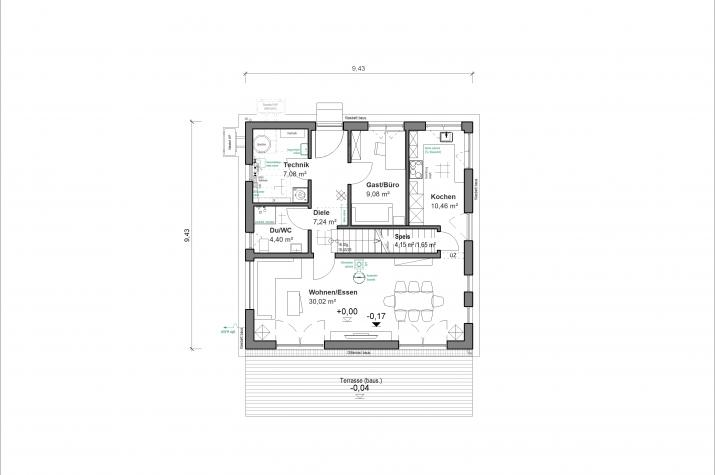 Schlossallee 138 - Raumaufteilung EG