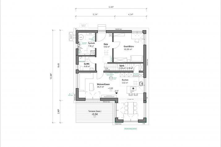 Schlossallee 148 - Raumaufteilung EG