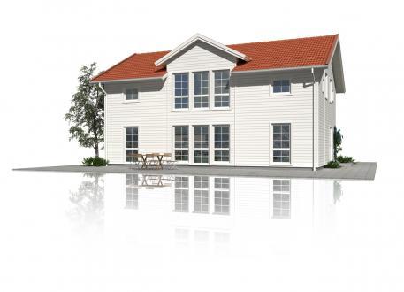 Einfamilienhaus Schwedenhaus Hussvalan - Großzügige Fensterflächen