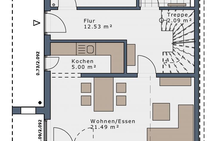 SmartSpace-D-111 Entwurf 3 - Grundriss Erdgeschoss