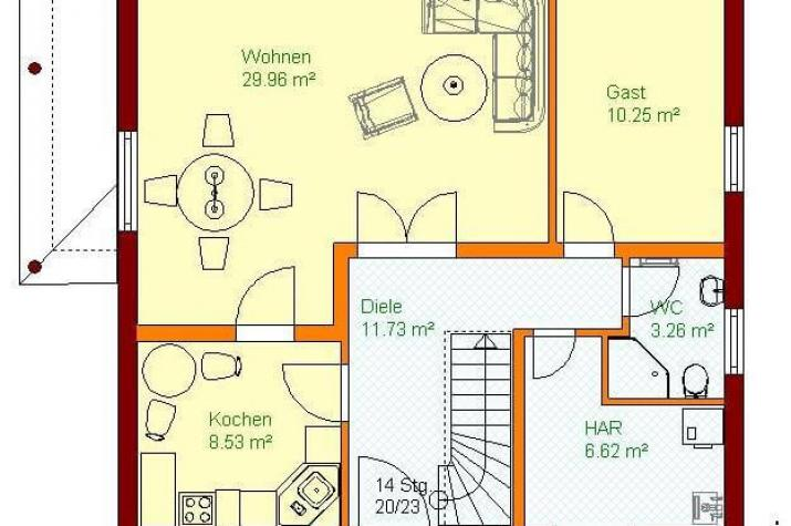 Stadthaus-V1 - grundriss eg